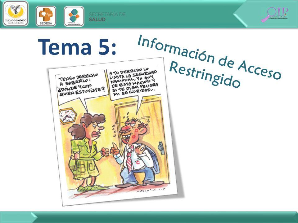 Tema 5: Información de Acceso Restringido