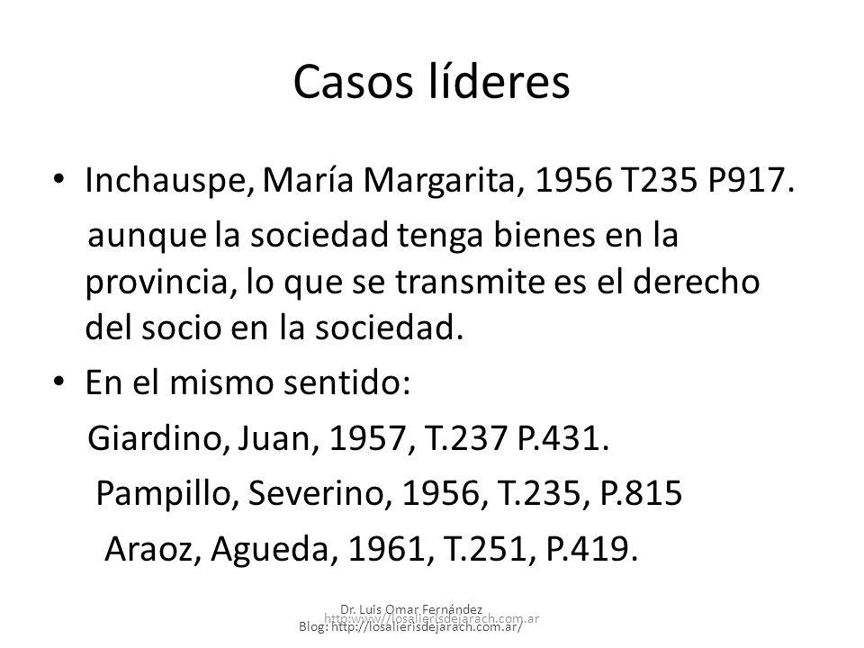 Casos líderes Inchauspe, María Margarita, 1956 T235 P917.