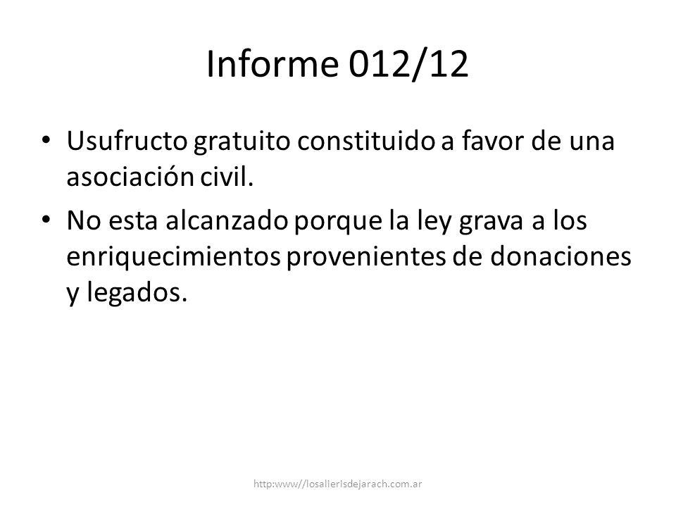Informe 017/12 Club de campo: transmisión de parcelas destinadas a uso recreativo común.