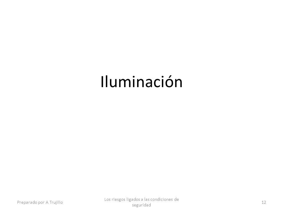 Iluminación Preparado por A Trujillo Los riesgos ligados a las condiciones de seguridad 12