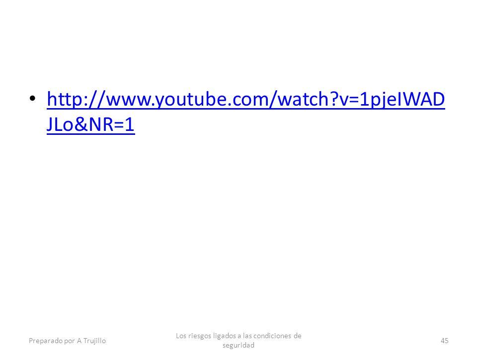 http://www.youtube.com/watch?v=1pjeIWAD JLo&NR=1 http://www.youtube.com/watch?v=1pjeIWAD JLo&NR=1 Preparado por A Trujillo Los riesgos ligados a las condiciones de seguridad 45