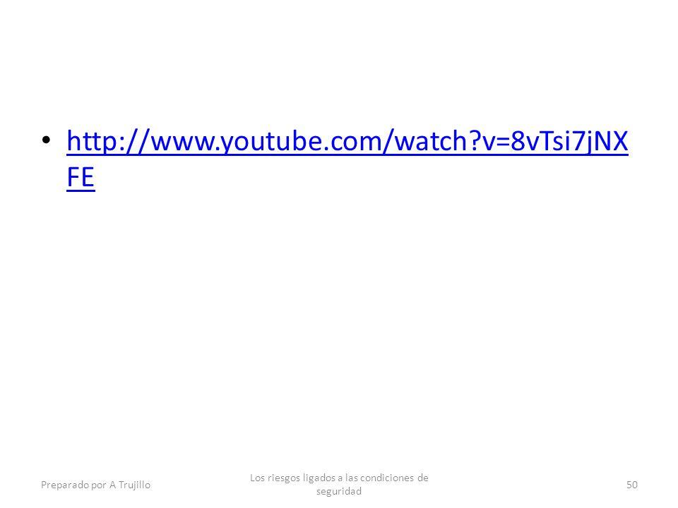 http://www.youtube.com/watch?v=8vTsi7jNX FE http://www.youtube.com/watch?v=8vTsi7jNX FE Preparado por A Trujillo Los riesgos ligados a las condiciones de seguridad 50