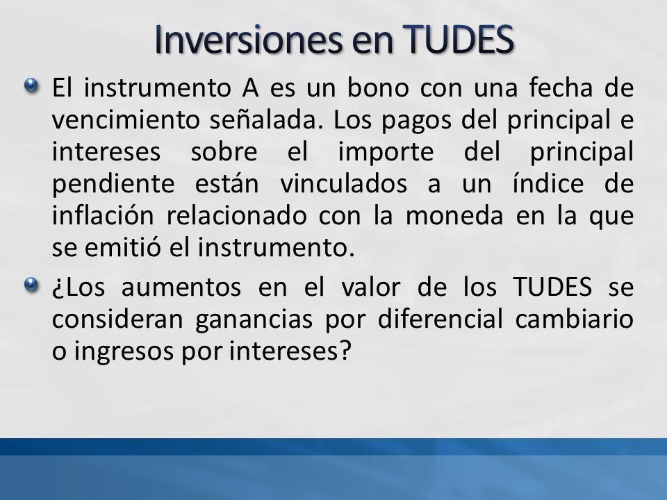 El instrumento A es un bono con una fecha de vencimiento señalada. Los pagos del principal e intereses sobre el importe del principal pendiente están