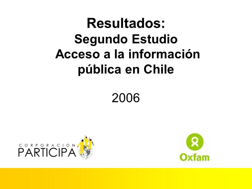 Resultados: Segundo Estudio Acceso a la información pública en Chile 2006