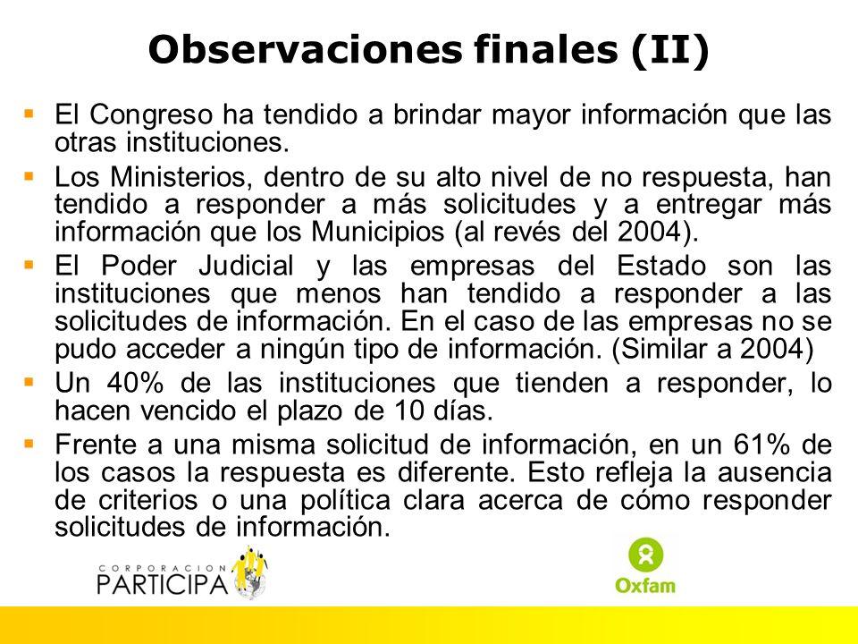 De acuerdo a este estudio, Chile ha experimentado un escaso avance en garantizar el acceso a la información pública desde el 2004.