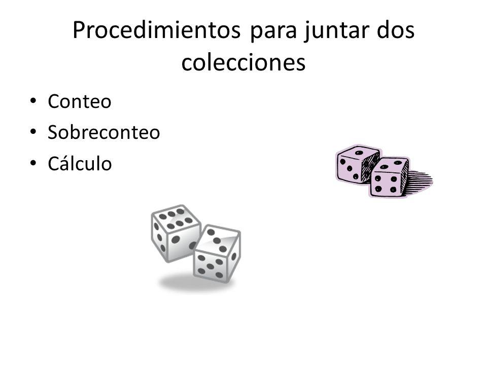 Procedimientos para juntar dos colecciones Conteo Sobreconteo Cálculo