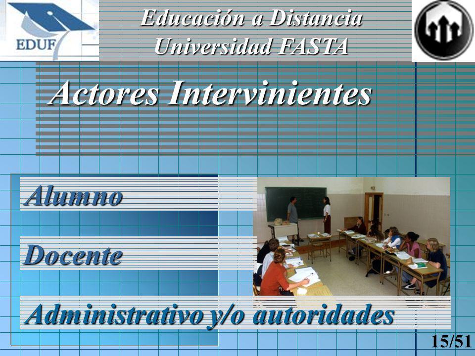 Educación a Distancia Universidad FASTA 14/51 Subsistema administración Objetivos Organización de actividad académica Reportes y estadísticas Auditoría de conexiones Información dinámica del Sitio Web