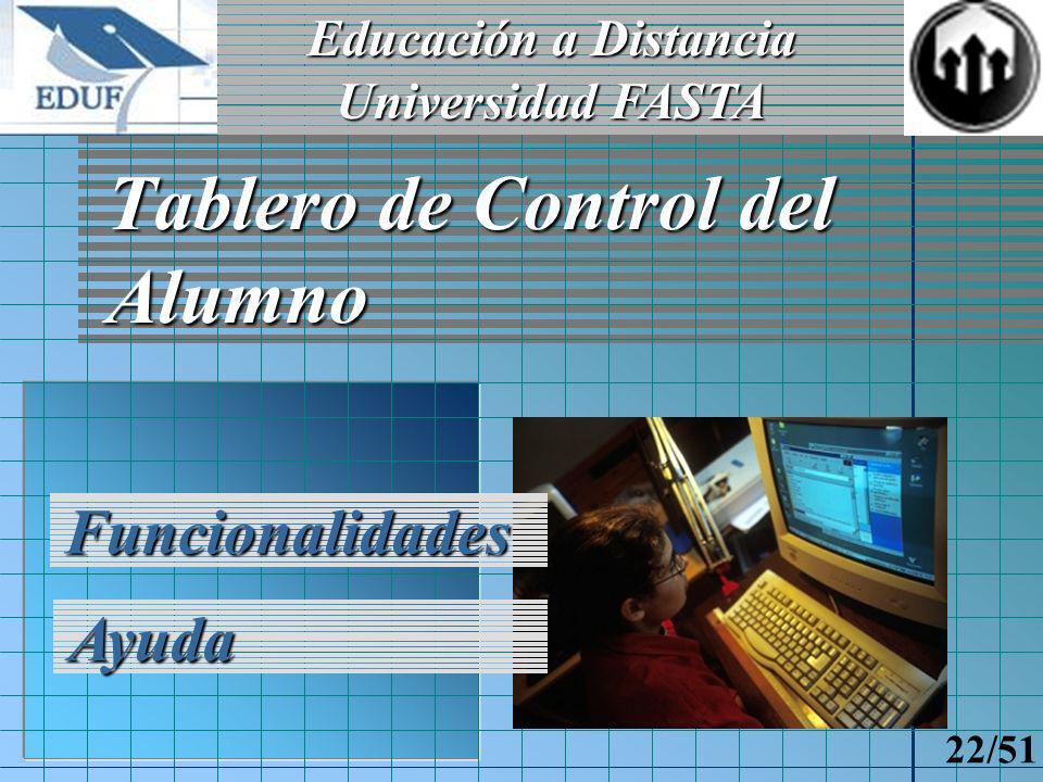 Educación a Distancia Universidad FASTA 21/51 Realización de Declaración Jurada Propuestas Confirmación Concepto de DDJJ