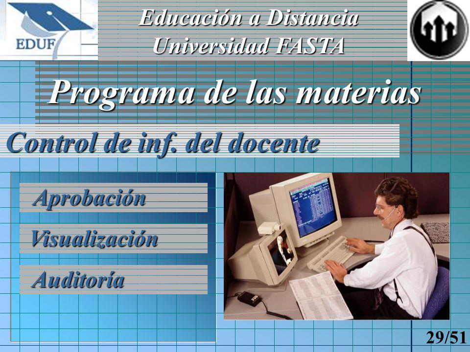 Educación a Distancia Universidad FASTA 28/51 Contenidos para las Clases en Línea Alta de diapositivas Texto de diapositivas