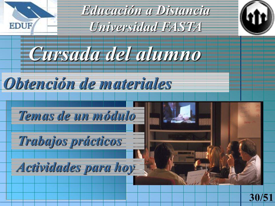 Educación a Distancia Universidad FASTA 29/51 Programa de las materias Control de inf.