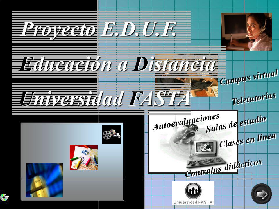 Educación a Distancia Universidad FASTA 47/51 Desarrollo: Herramientas y Lenguajes Utilizados Delphi 5 - Surfing Grid W2000 Server y Professional MS SQL Server 7.0 - IIS - Exchange Server 2000 - Exchange Conferencing Server 2000 Edit Plus - Dreamweaver - Fireworks - ASP - HTML - XML - VbScript - JavaScript