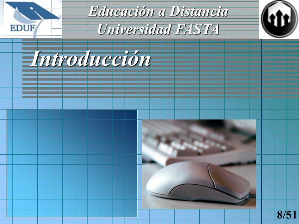 Campus virtual Autoevaluaciones Teletutorías Salas de estudio Clases en línea Contratos didácticos Proyecto E.D.U.F.