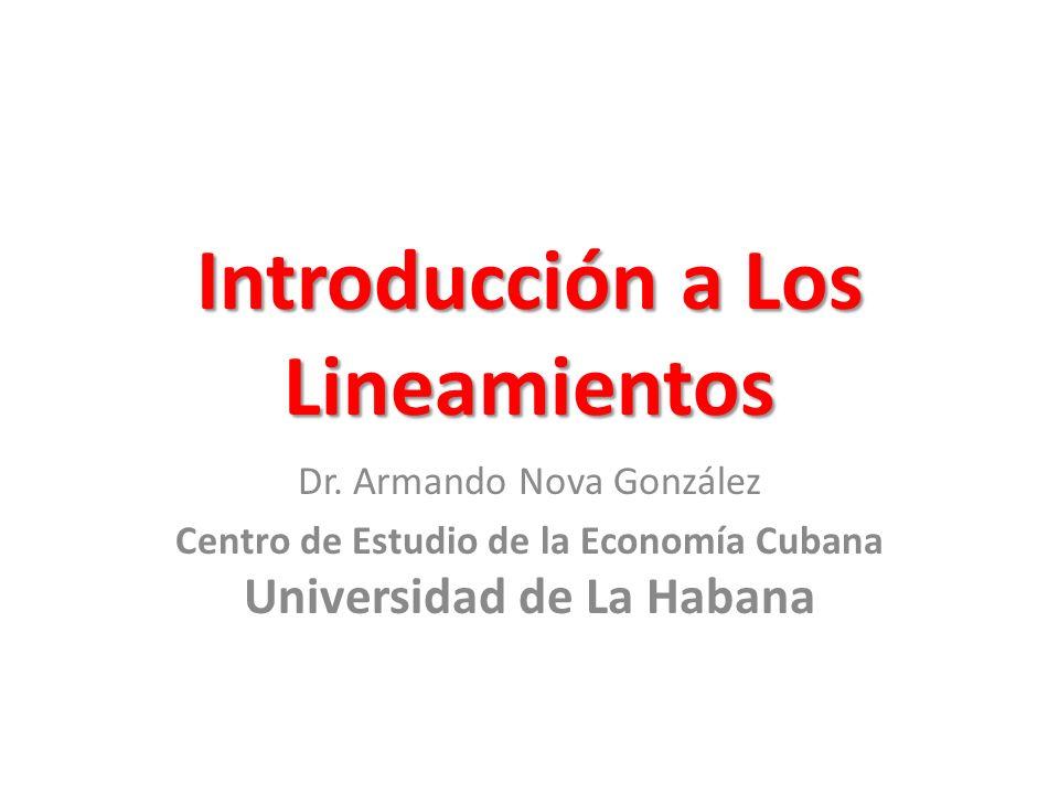 Introducción a Los Lineamientos Dr.