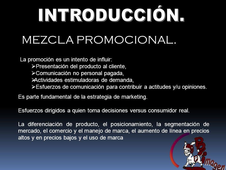MEZCLA PROMOCIONAL.