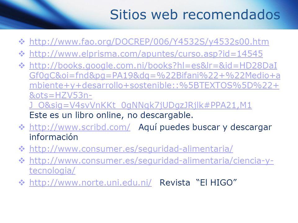 Sitios web recomendados http://www.fao.org/DOCREP/006/Y4532S/y4532s00.htm http://www.elprisma.com/apuntes/curso.asp?id=14545 http://books.google.com.n