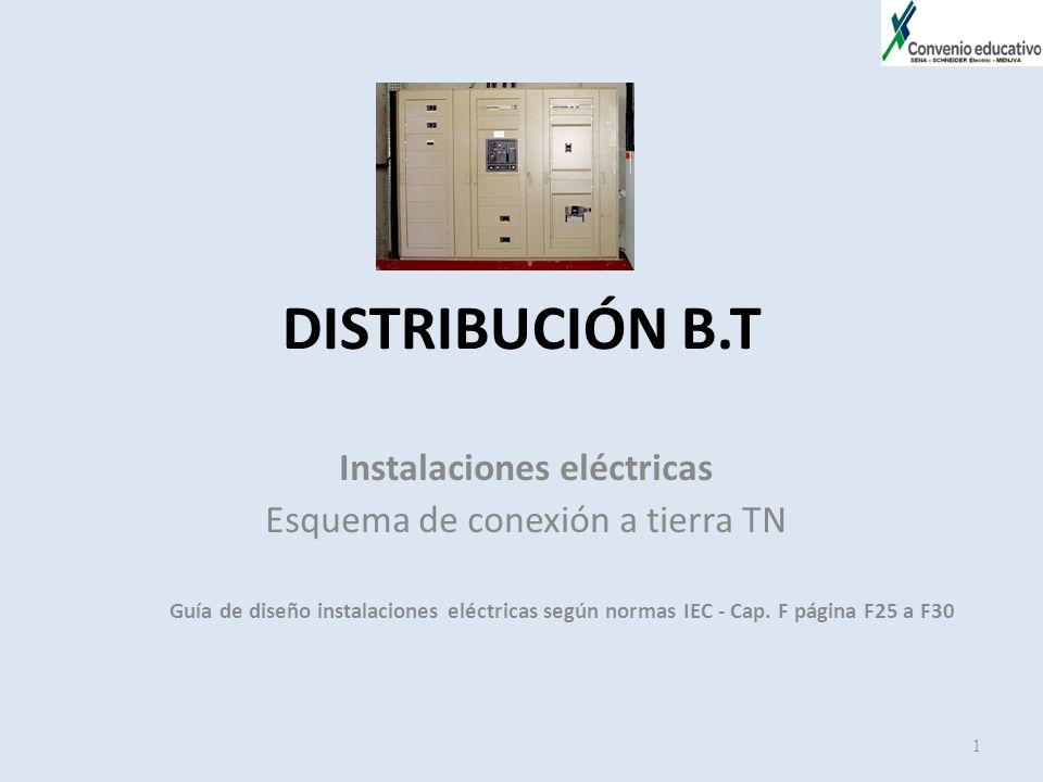 DISTRIBUCIÓN B.T Instalaciones eléctricas Esquema de conexión a tierra TN Guía de diseño instalaciones eléctricas según normas IEC - Cap. F página F25