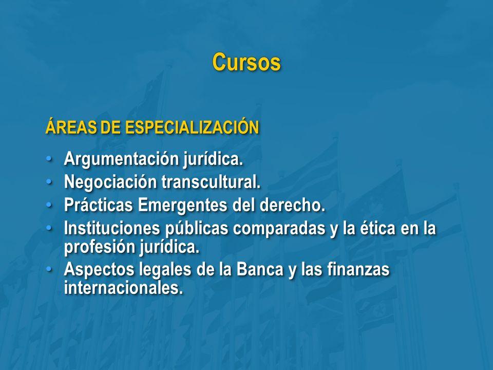 CursosCursos ÁREAS DE ESPECIALIZACIÓN Argumentación jurídica.