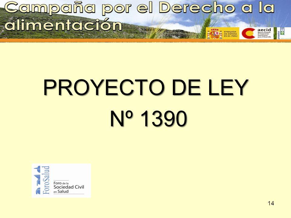 PROYECTO DE LEY Nº 1390 Nº 1390 14