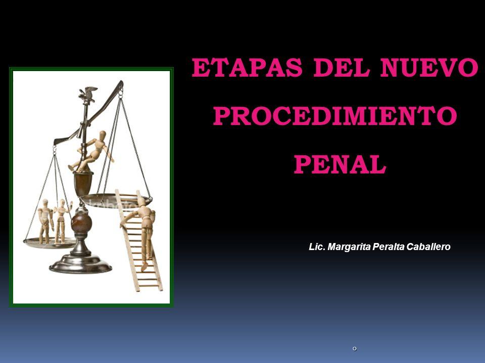 0 ETAPAS DEL NUEVO PROCEDIMIENTO PENAL Lic. Margarita Peralta Caballero