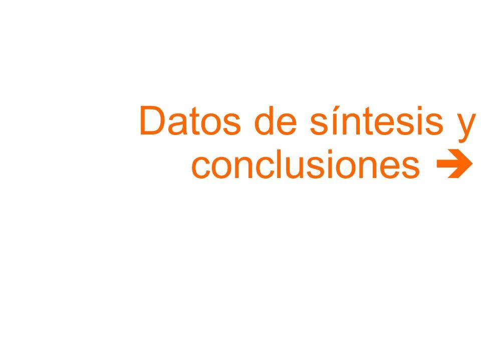 Datos de síntesis y conclusiones