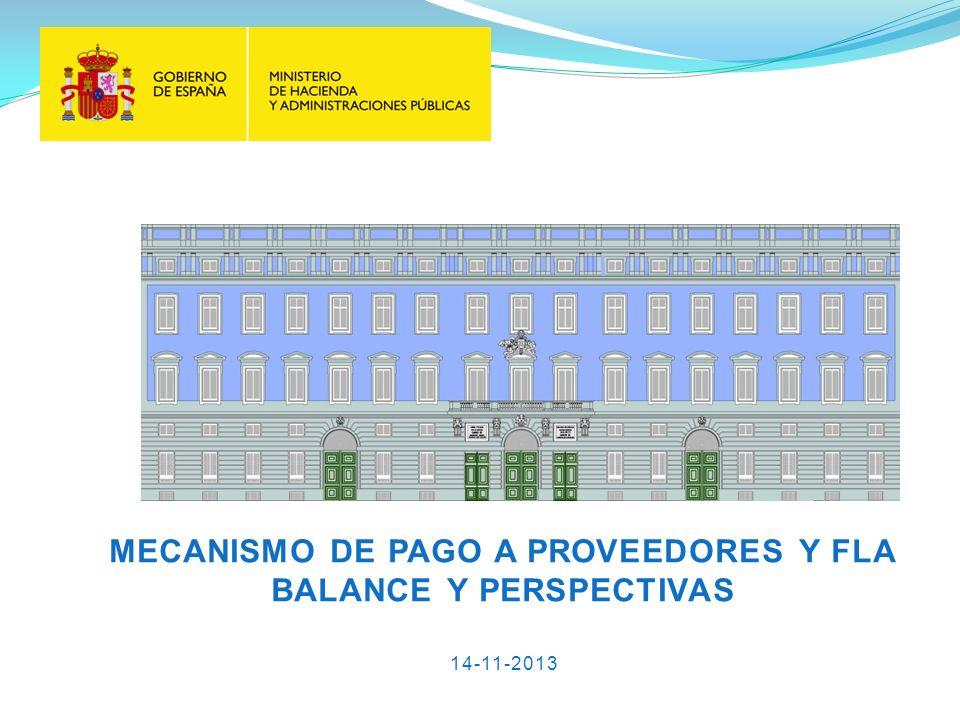 MECANISMO DE PAGO A PROVEEDORES Y FLA BALANCE Y PERSPECTIVAS 14-11-2013