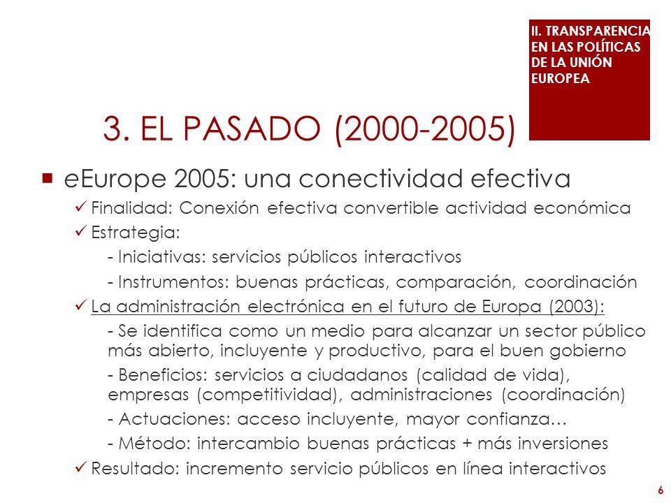 eEurope 2005: una conectividad efectiva Finalidad: Conexión efectiva convertible actividad económica Estrategia: - Iniciativas: servicios públicos int