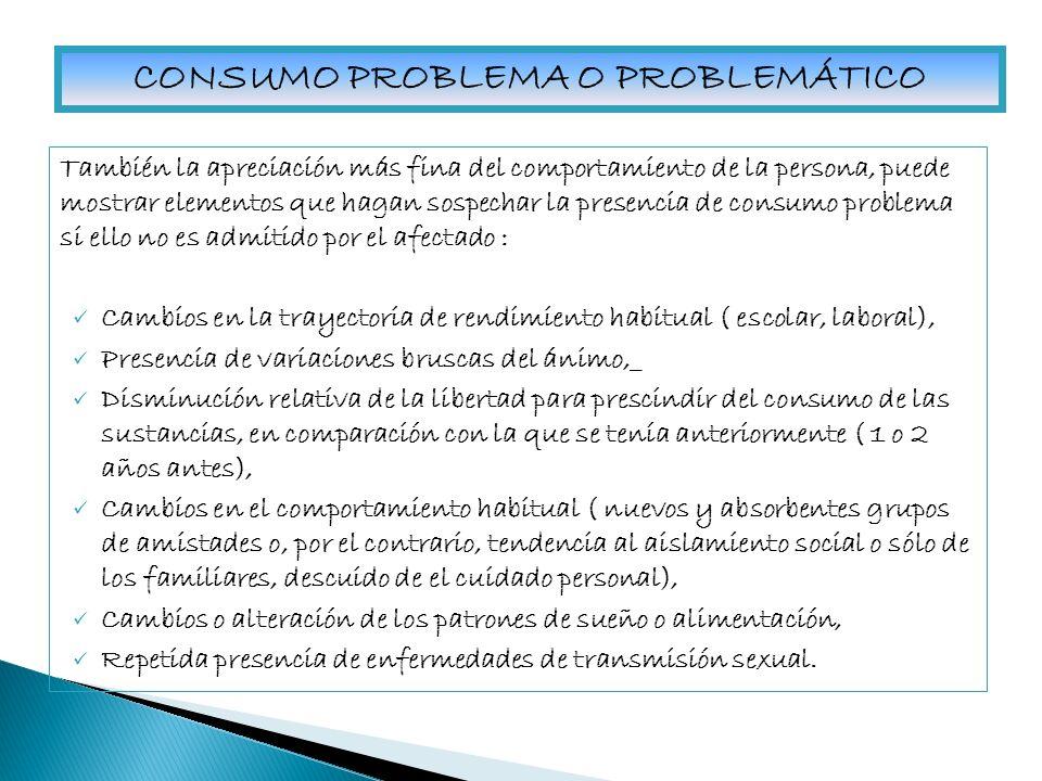 CRITERIOS DE ABUSO DE SUSTANCIAS PSICOACTIVAS (DSM IV, 1994) 1.