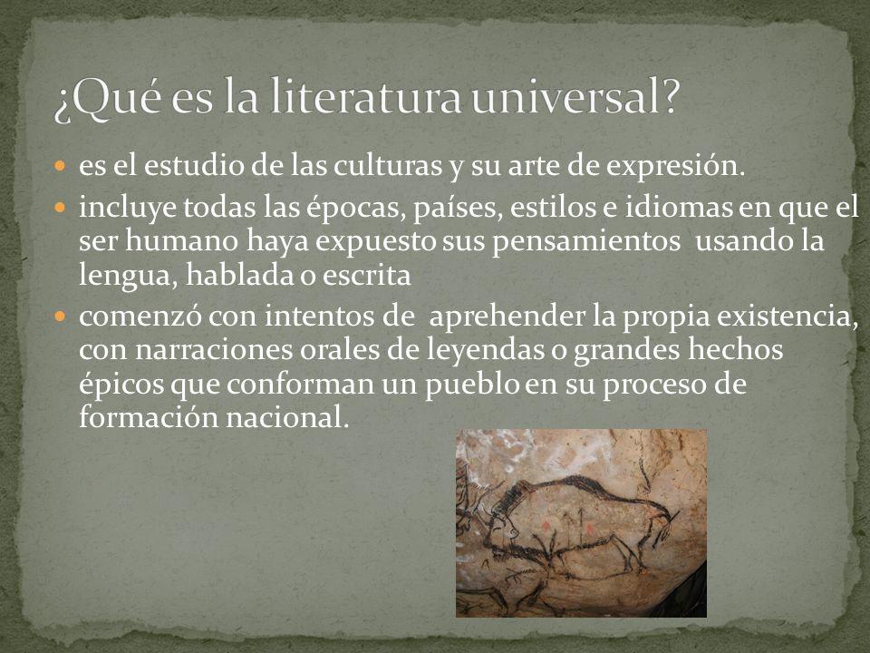 es el estudio de las culturas y su arte de expresión. incluye todas las épocas, países, estilos e idiomas en que el ser humano haya expuesto sus pensa