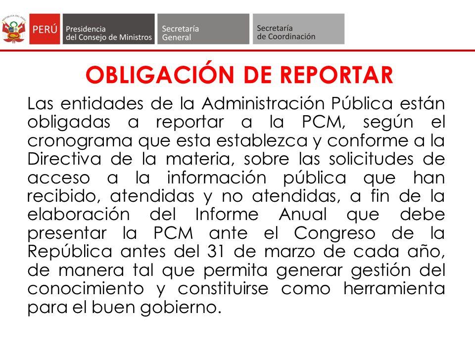 ¿Qué información debe contener el Reporte.