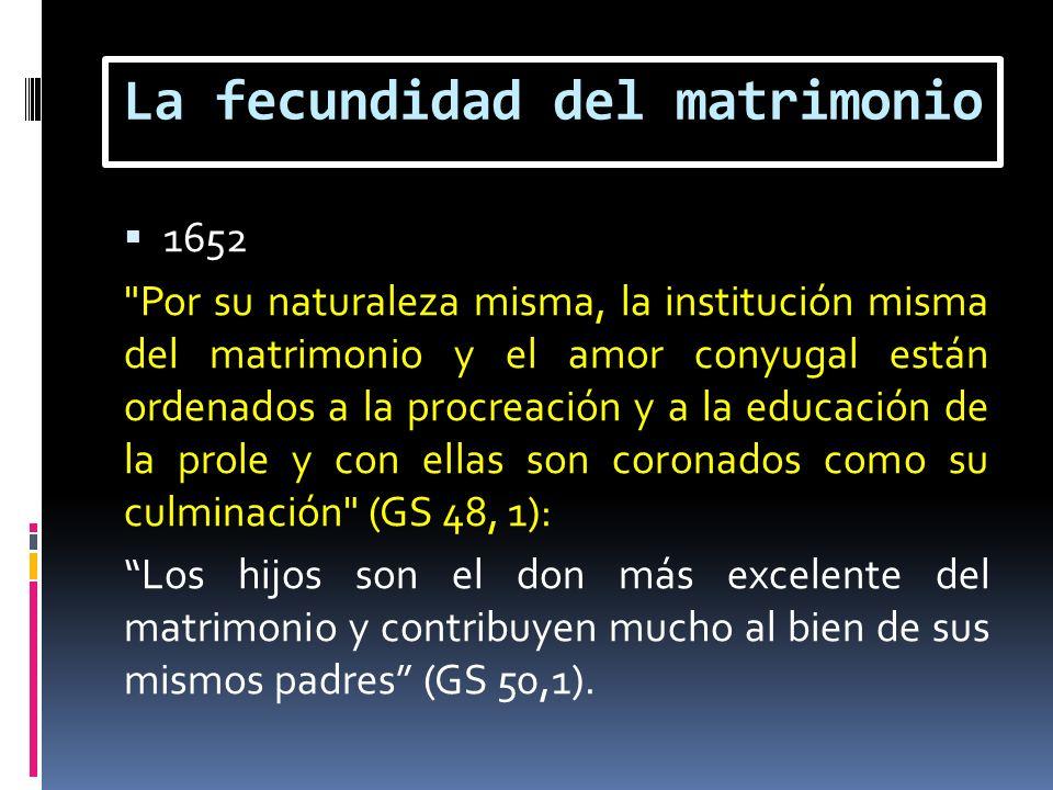 La fecundidad del matrimonio 1652