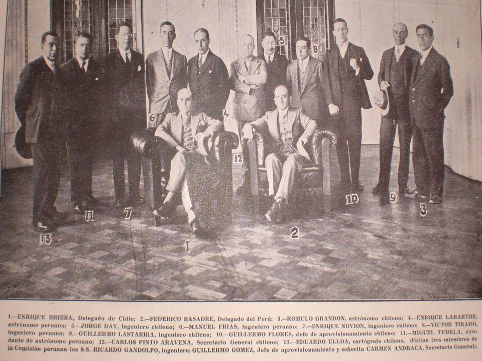 Instrucciones La negociación se realizó el 28 de abril de 1930 en Santiago, emitiéndose las siguientes instrucciones: HITO CONCORDIA.- Punto inicial, en la costa, de la línea fronteriza.