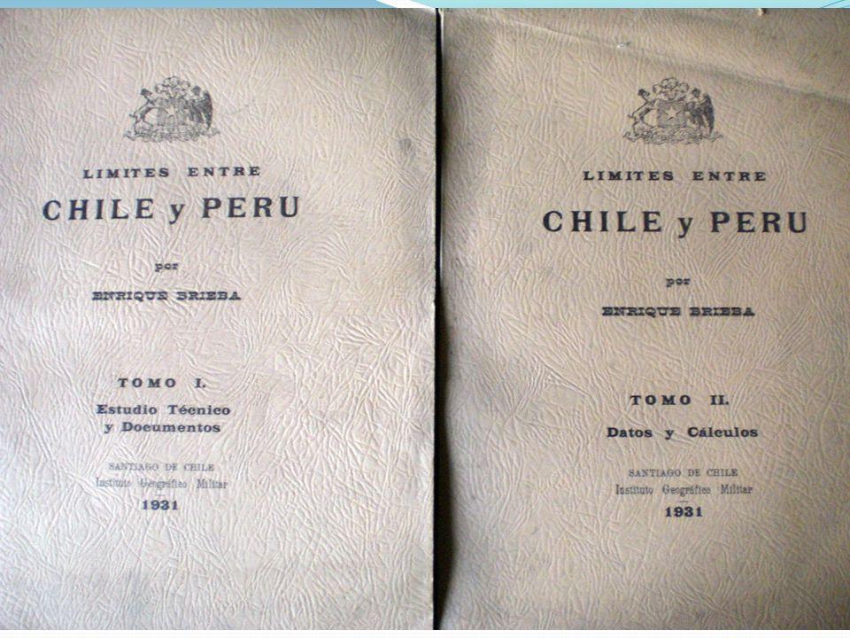 Esquema explicativo que señala la actual posición unilateral del Perú respecto del límite terrestre convenido y ratificado entre Chile y Perú en 1930.