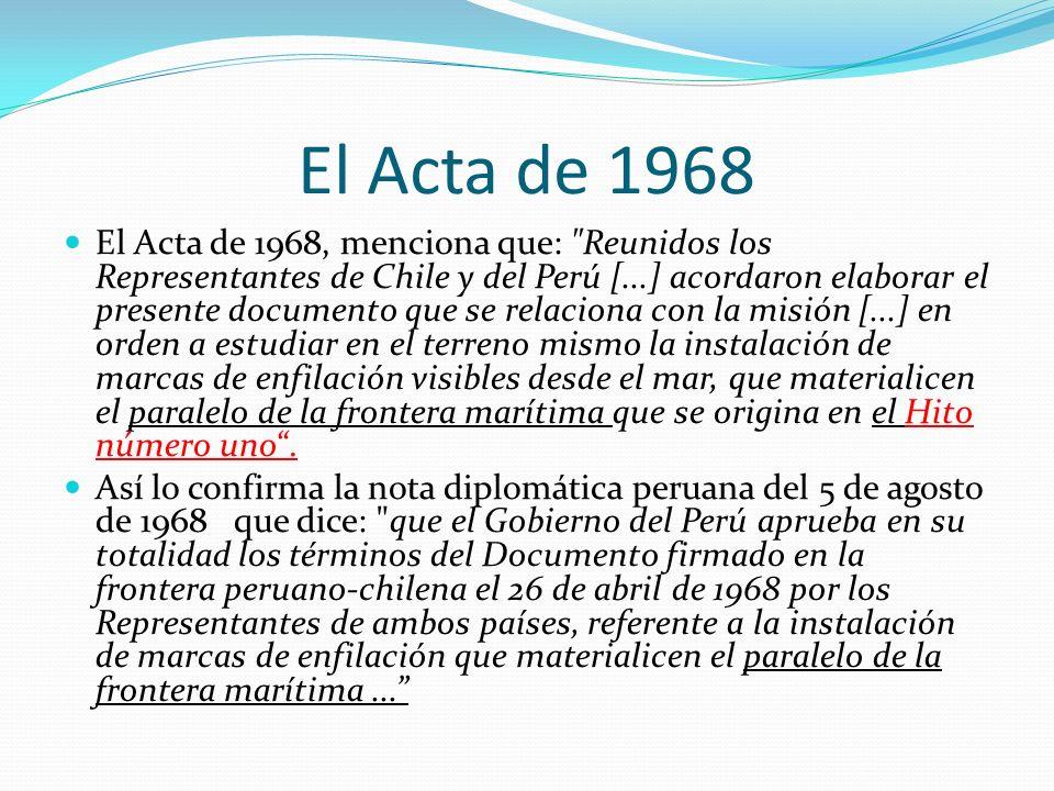 El Acta de 1968 El Acta de 1968, menciona que: