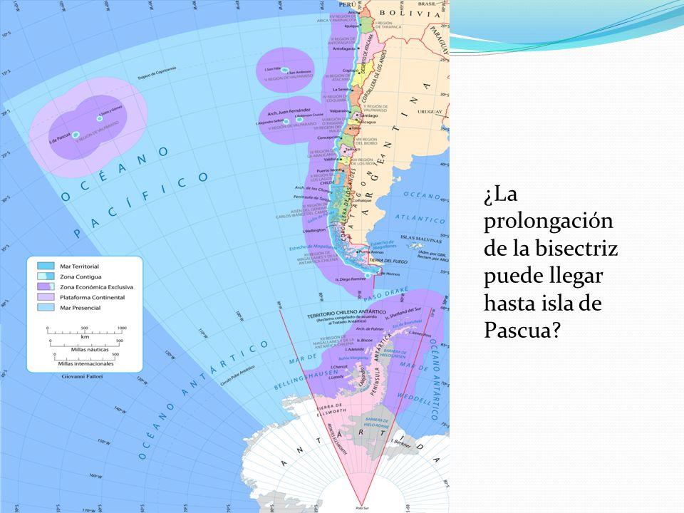 ¿La prolongación de la bisectriz puede llegar hasta isla de Pascua?