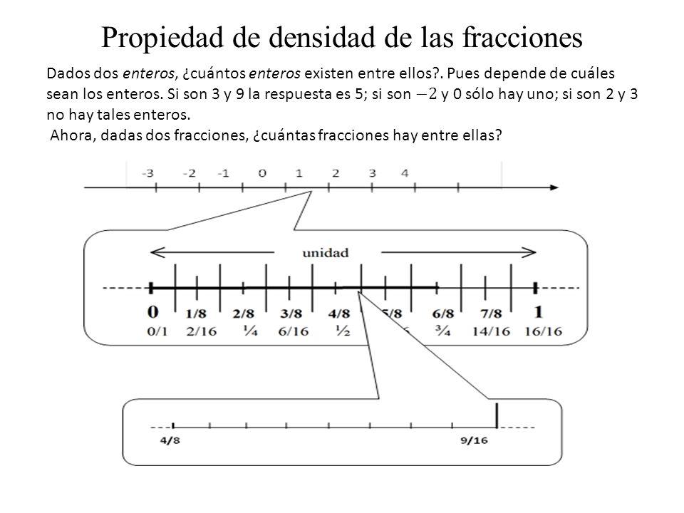 Propiedad de densidad de las fracciones