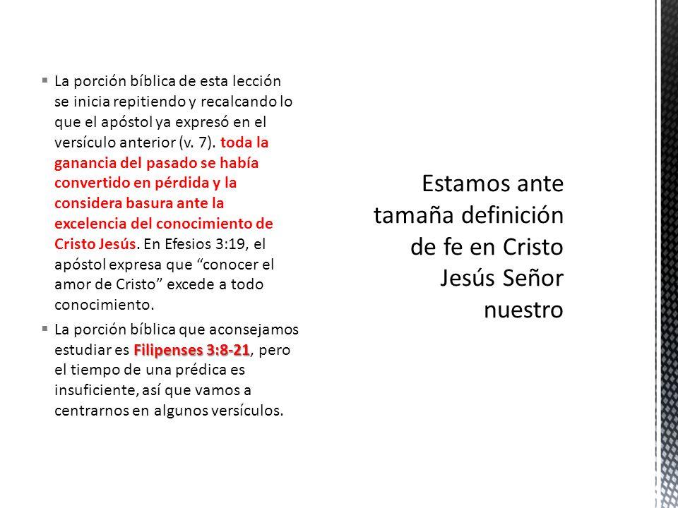 La porción bíblica de esta lección se inicia repitiendo y recalcando lo que el apóstol ya expresó en el versículo anterior (v. 7). toda la ganancia de