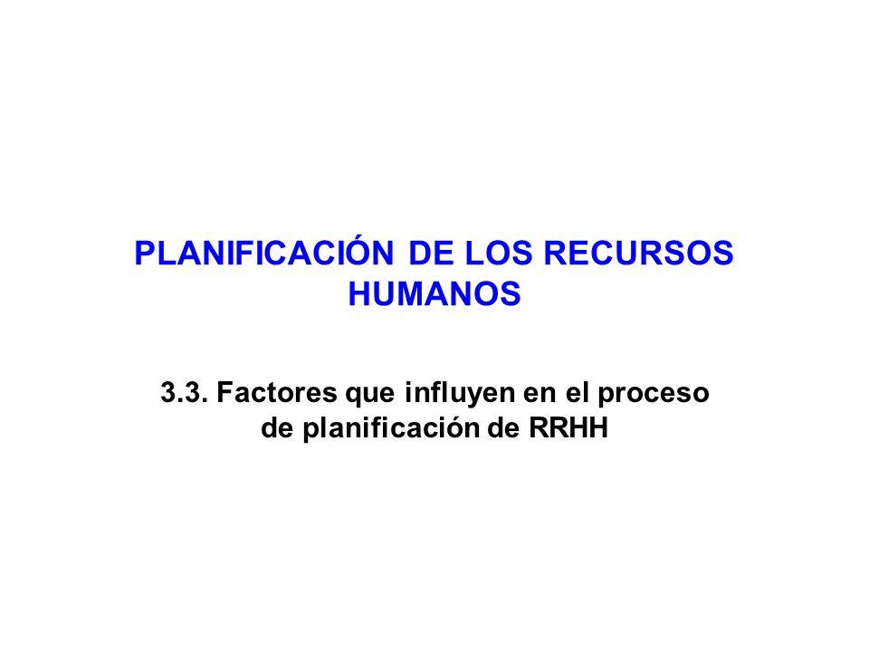 PLANIFICACIÓN DE LOS RECURSOS HUMANOS 3.3.