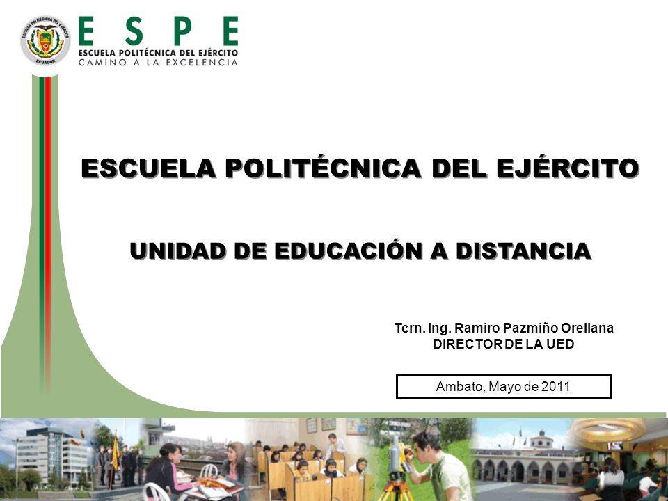 Ambato, Mayo de 2011 ESCUELA POLITÉCNICA DEL EJÉRCITO UNIDAD DE EDUCACIÓN A DISTANCIA ESCUELA POLITÉCNICA DEL EJÉRCITO UNIDAD DE EDUCACIÓN A DISTANCIA Tcrn.