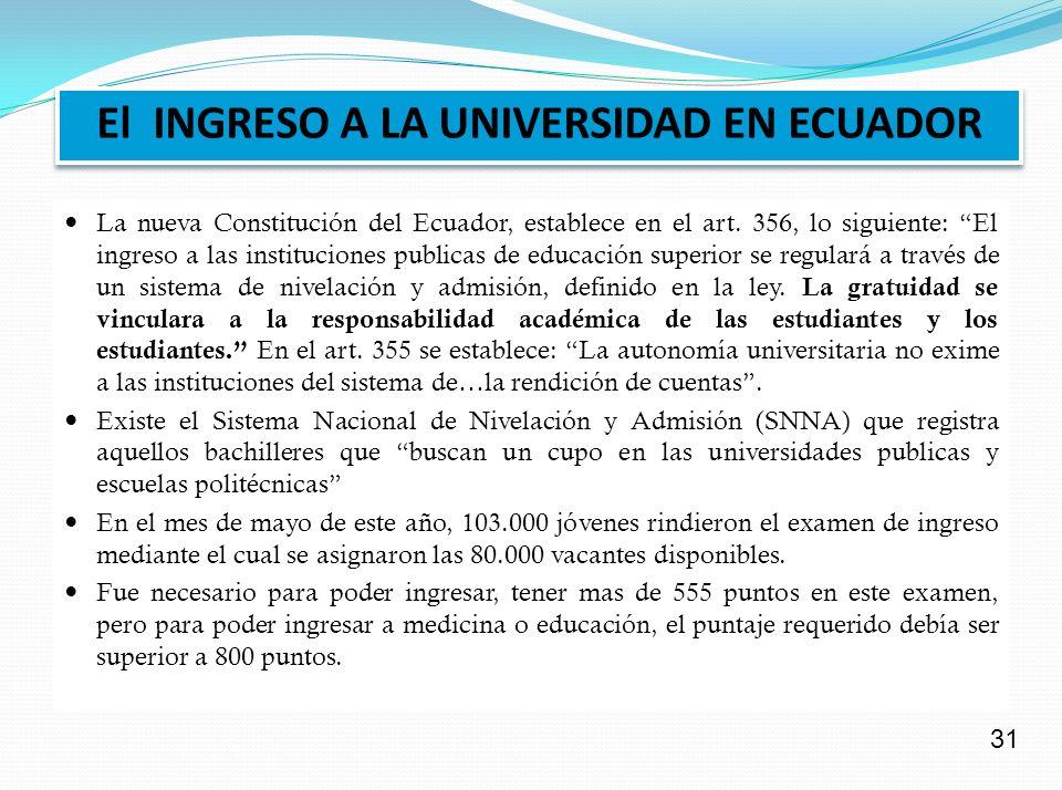 EL INGRESO A LA UNIVERSIDAD EN CUBA Existe examen y cupo de ingreso para cada carrera universitaria.