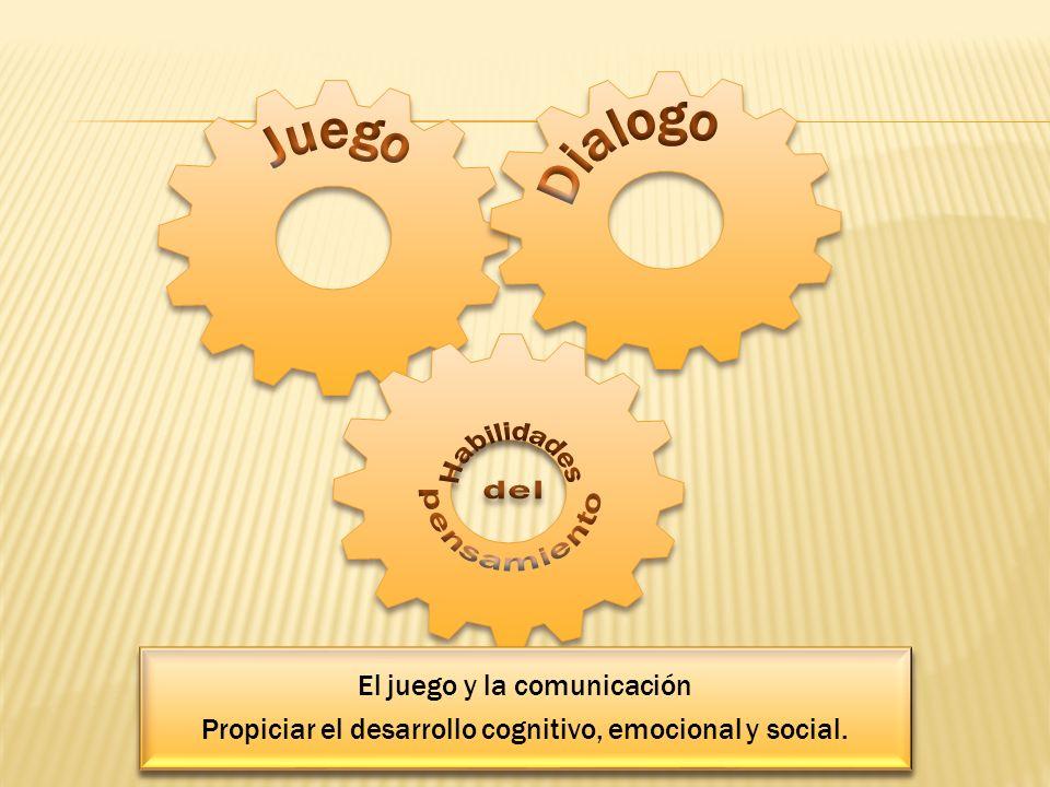 El juego y la comunicación Propiciar el desarrollo cognitivo, emocional y social. El juego y la comunicación Propiciar el desarrollo cognitivo, emocio