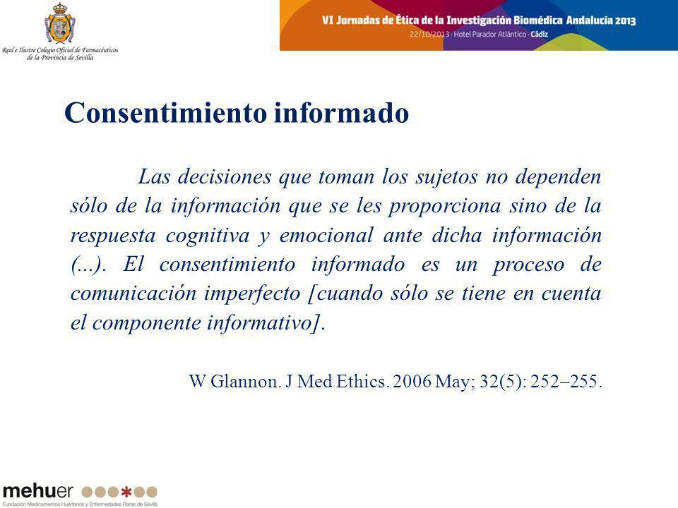 Las decisiones que toman los sujetos no dependen sólo de la información que se les proporciona sino de la respuesta cognitiva y emocional ante dicha i