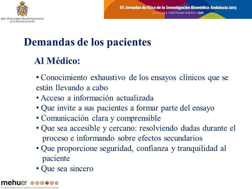 Conocimiento exhaustivo de los ensayos clínicos que se están llevando a cabo Acceso a información actualizada Que invite a sus pacientes a formar part