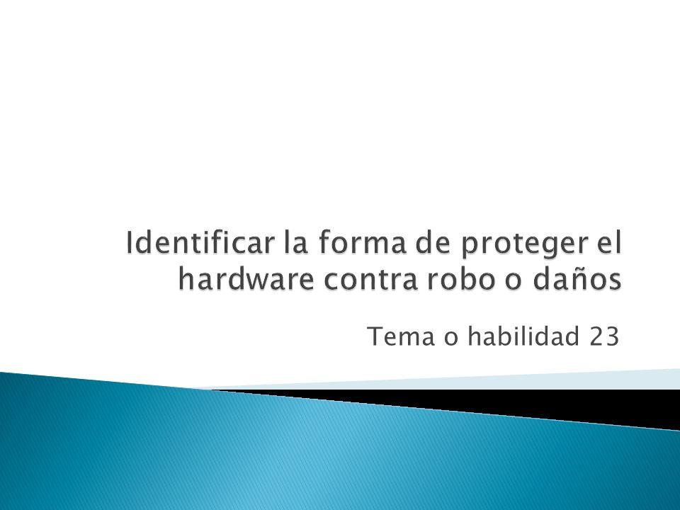Objetivo 4 Identificar la forma de dar mantenimiento a los equipos informáticos y de solucionar problemas comunes relacionados con el hardware.