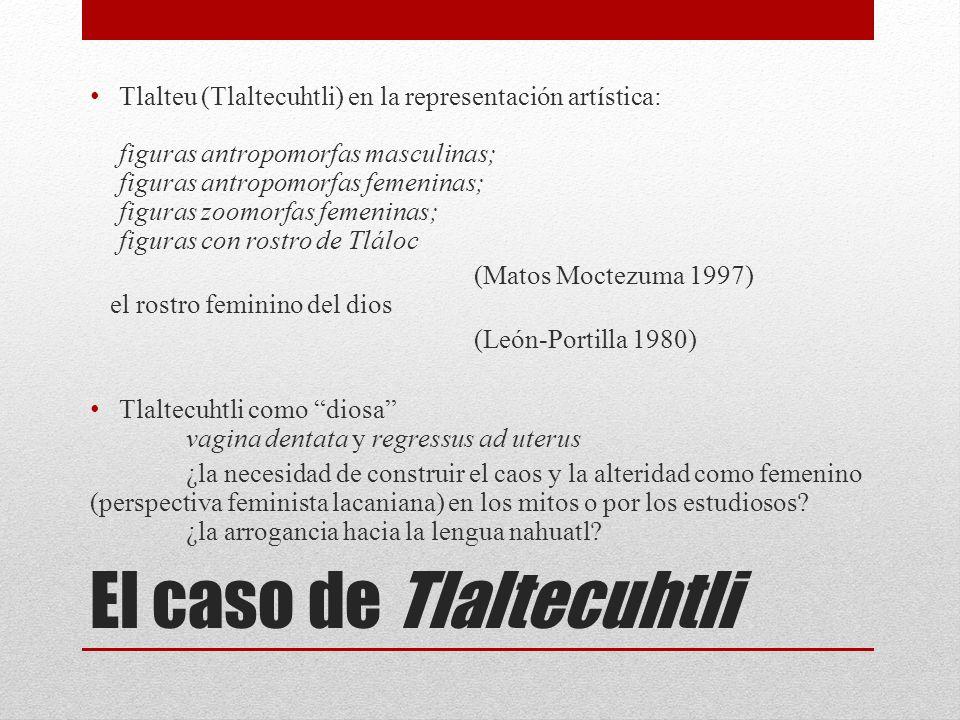 El caso de Tlaltecuhtli Tlalteu (Tlaltecuhtli) en la representación artística: figuras antropomorfas masculinas; figuras antropomorfas femeninas; figu