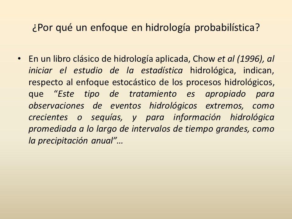 ¿Por qué un enfoque en hidrología probabilística.