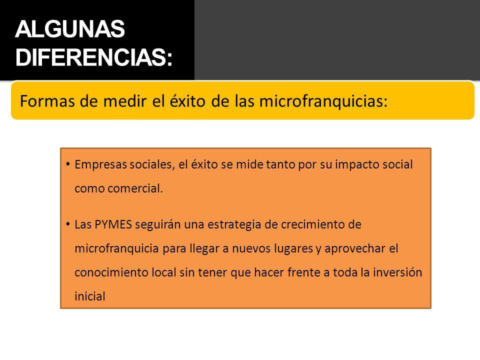 ALGUNAS DIFERENCIAS: Empresas sociales, el éxito se mide tanto por su impacto social como comercial. Las PYMES seguirán una estrategia de crecimiento