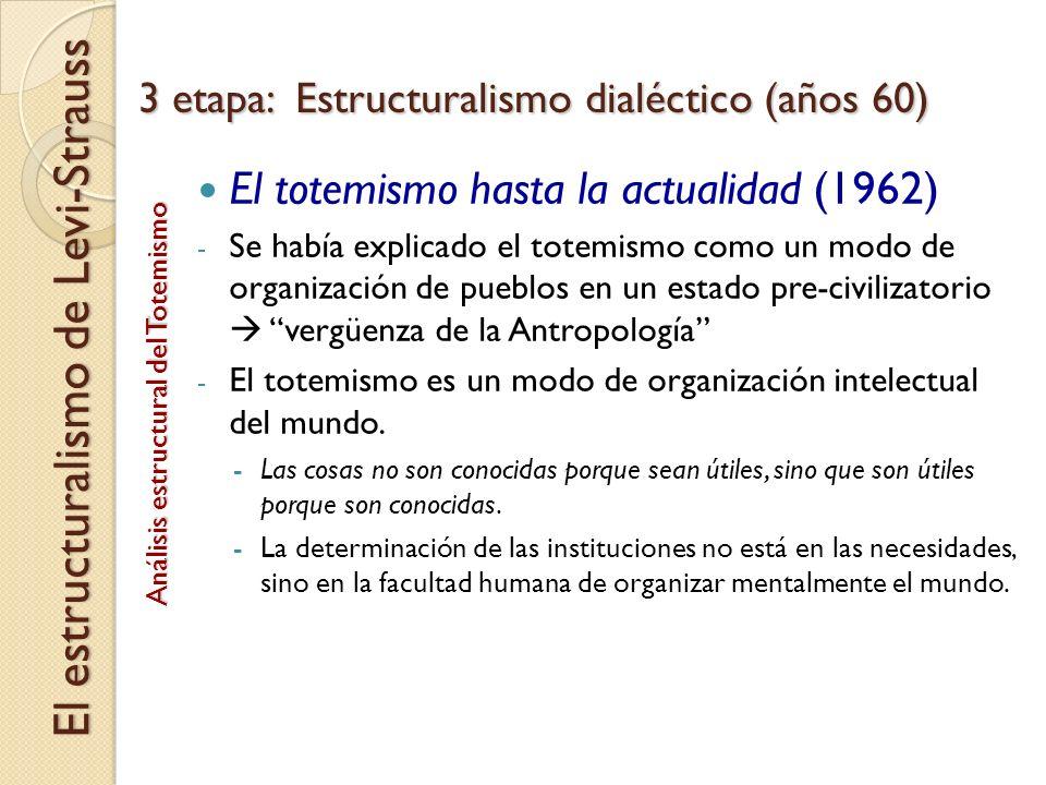 El totemismo hasta la actualidad (1962) - Se había explicado el totemismo como un modo de organización de pueblos en un estado pre-civilizatorio vergü