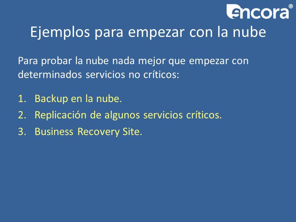 Ejemplos para empezar con la nube Para probar la nube nada mejor que empezar con determinados servicios no críticos: 1.Backup en la nube.