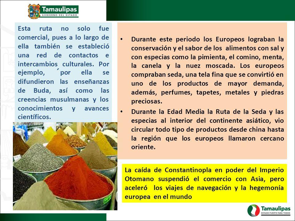 Durante este periodo los Europeos lograban la conservación y el sabor de los alimentos con sal y con especias como la pimienta, el comino, menta, la c