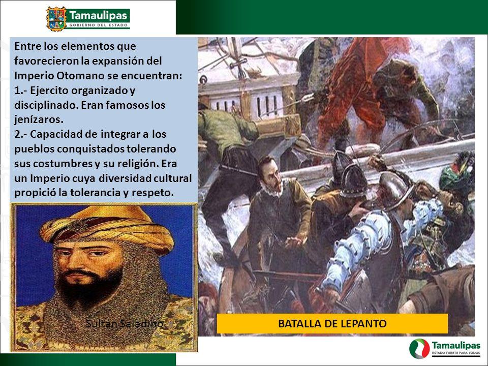 Entre los elementos que favorecieron la expansión del Imperio Otomano se encuentran: 1.- Ejercito organizado y disciplinado. Eran famosos los jenízaro